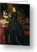 Frederic (1830-96) Painting Greeting Cards - Mrs James Guthrie Greeting Card by Frederic Leighton