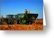 Indiana Autumn Greeting Cards - Mrs John Deere Greeting Card by Brittany H