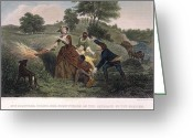Cornfield Greeting Cards - Mrs. Philip Schuyler, 1777 Greeting Card by Granger