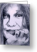 Robbi Musser Greeting Cards - Ms. Joplin Greeting Card by Robbi  Musser