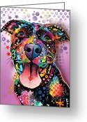 Pitbull Greeting Cards - Ms. Understood Greeting Card by Dean Russo