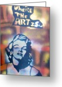 Sit-ins Greeting Cards - Ms.Monroe Greeting Card by Tony B Conscious