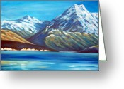 Lake Tekapo Greeting Cards - Mt Cook New Zealand Greeting Card by Ira Mitchell-Kirk