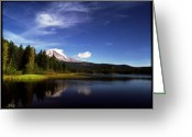 Trillium Lake Greeting Cards - Mt Hood from Trillium Lake Greeting Card by Bob Groshart