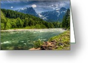 Tonemapped Greeting Cards - Mt. Index Greeting Card by Spencer McDonald