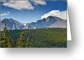 Western Trees Greeting Cards - Mt Meeker and Longs Peak Colorado Greeting Card by Brendan Reals