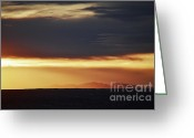 Autumn Photographs Greeting Cards - Mt Taylor Haze Greeting Card by Andrea Hazel Ihlefeld