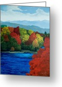 Mt. Washington Greeting Cards - MT Washington from the Saco River Greeting Card by Paul Gaj