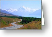Lord Of The Rings Greeting Cards - Mt.Cook Highway Greeting Card by Kevin Smith