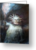 Creature Digital Art Greeting Cards - MtnMan Greeting Card by Ethan Harris