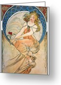 Turn Of The Century Greeting Cards - Mucha: Poster, 1898 Greeting Card by Granger