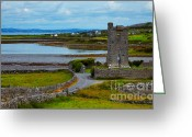 County Clare Greeting Cards - Muckinishnoe Tower House Greeting Card by Gabriela Insuratelu