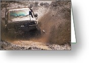 Four-wheel Greeting Cards - Mud Slinger Greeting Card by Tim Nichols