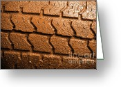 Adobe Greeting Cards - Muddy Tire Greeting Card by Carlos Caetano