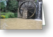 Old Mills Greeting Cards - Muddy Water After The Rain Greeting Card by Jan Amiss Photography