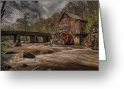 Glade Mill Greeting Cards - Muddy Water Greeting Card by Wade Aiken
