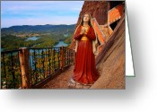 Guatape Greeting Cards - Mujer de la Piedra Greeting Card by Skip Hunt