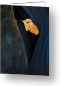 Santa Fe Greeting Cards - Mujer de Las Golindrinas Greeting Card by Jack Atkins