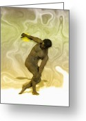 Discobolous Greeting Cards - Mulatto discobolus Greeting Card by Joaquin Abella Ojeda