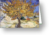 Oil Greeting Cards - Mulberry Tree Greeting Card by Vincent Van Gogh