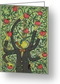 Green Tomato Greeting Cards - Multi-tasking Greeting Card by Dennis Wunsch