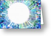 Sun Abstract Digital Art Greeting Cards - Multimedia Screen And Graphic Design Greeting Card by Setsiri Silapasuwanchai