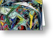 Crash Mixed Media Greeting Cards - Multiple Car Collision Greeting Card by Jerry L Barrett