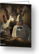 Tutankhamen Greeting Cards - Mummy Awake Greeting Card by Martin Davey