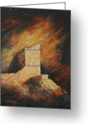 Anasazi Greeting Cards - Mummy Cave Ruins 2 Greeting Card by Jerry McElroy