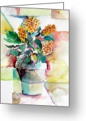 Fall Drawings Greeting Cards - Mums the Word Greeting Card by Mindy Newman