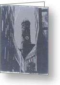 Medieval Architecture Greeting Cards - Munich Frauenkirche Greeting Card by Irina  March