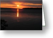 Christine Hafeman Greeting Cards - Muninsing Sunset 1 Greeting Card by Christine Hafeman
