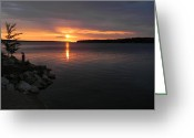 Christine Hafeman Greeting Cards - Munising Sunset 2 Greeting Card by Christine Hafeman