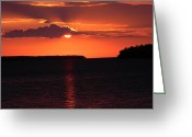 Christine Hafeman Greeting Cards - Munising Sunset 3 Greeting Card by Christine Hafeman