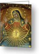 Religious Icon Greeting Cards - Mural depicting the Virgin Mary inside the Catedral de Cordoba Greeting Card by Sami Sarkis
