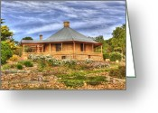 Roundhouse Greeting Cards - Murray Bridge Roundhouse Greeting Card by Mark Richards