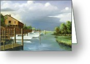 Intercoastal Greeting Cards - Murrells Inlet  South Carolina Greeting Card by Jim Horton
