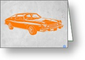 Funny Car Greeting Cards - Muscle car Greeting Card by Irina  March