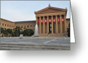Philadelphia Museum Of Art Greeting Cards - Museum of Art - Philadelphia Greeting Card by Bill Cannon
