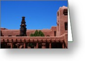 Sculture Greeting Cards - Museum of Indian Arts and Culture Santa Fe Greeting Card by Susanne Van Hulst