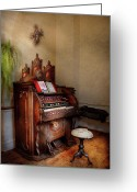 Pipe Greeting Cards - Music - Organ - Hear the Joy  Greeting Card by Mike Savad
