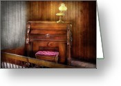 Player Photo Greeting Cards - Music - Organist - A vital organ Greeting Card by Mike Savad