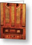 Thank You Greeting Cards - Music - Organist - Skippack  Ville Organ - 1835 Greeting Card by Mike Savad