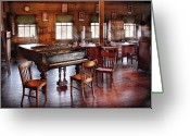 Music Teacher Greeting Cards - Music - Piano - The grand piano Greeting Card by Mike Savad