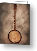 Banjo Greeting Cards - Music - String - Banjo  Greeting Card by Mike Savad
