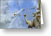 Trumpet Music Greeting Cards - Music Divine Greeting Card by Jeannie Burleson