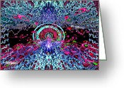 Grid Mixed Media Greeting Cards - Music for the Eyes Greeting Card by Seth Weaver