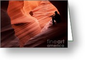 Cavern Greeting Cards - Music in the Canyon Greeting Card by Bob and Nancy Kendrick