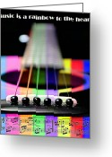 Shine Greeting Cards - Music Is A Rainbow To The Heart Greeting Card by Andee Photography