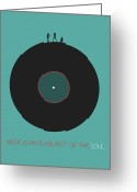 Vinyl Greeting Cards - Music is an outburst of the soul Poster Greeting Card by Irina  March